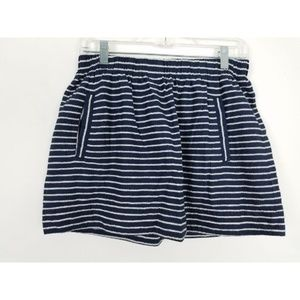 J.Crew Striped Pull On Mini Skirt